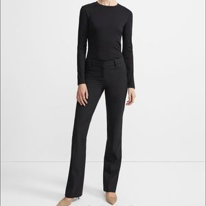 Theory Black Anaiss Taylor wool black stretch pant
